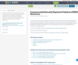 Commercially Sexually Exploited Children (CSEC) Resources