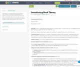 Introducing Read Theory