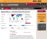 Applied Macro- and International Economics, Spring 2011
