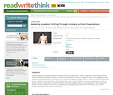 Modeling Academic Writing Through Scholarly Article Presentations