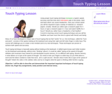 Touch Typing Lesson