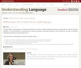 Mathematics, the Common Core, and Language