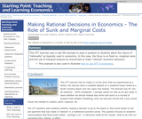 Making Rational Decisions in Economics - The Role of Sunk and Marginal Costs