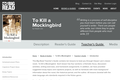 To Kill a Mockingbird by Harper Lee - Teacher's Guide