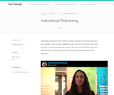 Teach Design : Intentional Partnering