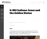 G-MG Indiana Jones and the Golden Statue