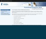 Functional analysis 2010