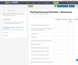 Flat Stanley Journal Checklist — Elementary