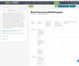 Blank Unpacking NCAS Template