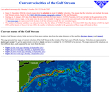 Current Velocities of the Gulf Stream