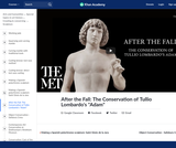 """After the Fall: The Conservation of Tullio Lombardo's """"Adam"""""""