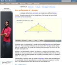 Relationship of area and perimeter of a triangle
