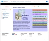 American Memory Timeline