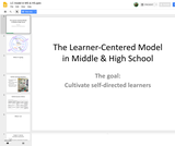 Learner Centered Model in Middle and High School
