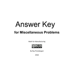 Answer Key for Miscellaneous Problems