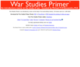 War Studies Primer - an introductory course on the study of war and military history