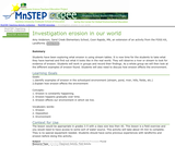 Investigation: Erosion in our World