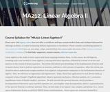 Linear Algebra II