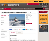 Design Principles for Ocean Vehicles (13.42), Spring 2005