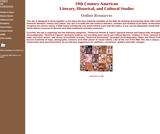 19th Century American Historical, Literary and Cultural Studies Online