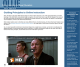 Guiding Principles to Online Instruction