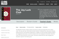 The Joy Luck Club by Amy Tan - Teacher's Guide