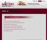 Reading Like a Historian, Unit 4: Expansion/Slavery