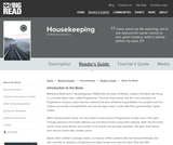 Housekeeping by Marilynne Robinson - Reader's Guide