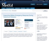 Supporting Military Emergency Response During Hazardous Releases