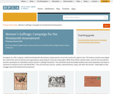 Women's Suffrage: Campaign for the Nineteenth Amendment