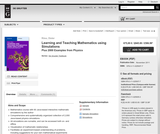 Learning and Teaching Mathematics using Simulations – Plus 2000 Examples from Physics