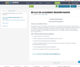 ED-LLC 101: ACADEMIC READING BADGE