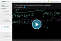 Differential Equations: 2nd Order Linear Homogeneous Differential Equations 3