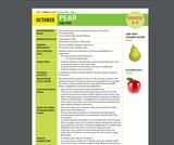 Health Literacy: Grade 2-3 Lesson, Pear