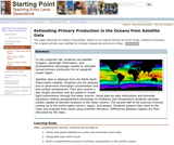 Estimating Primary Production in the Oceans from Satellite Data