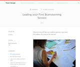 Teach Design : Leading your First Brainstorming Session