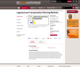 Logistical and Transportation Planning Methods, Fall 2004
