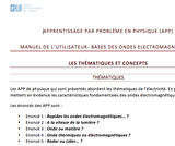 OER-UCLouvain: Apprentissage par problème en physique pour des groupes d'étudiants en apprentissage actif: Bases des ondes électromagnétiques