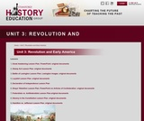 Reading Like a Historian, Unit 3: Revolution and Early America