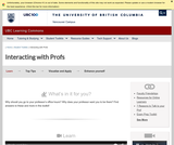 Learning Toolkit: Profs and TAs