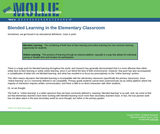 Blended Learning in the Elementary Classroom