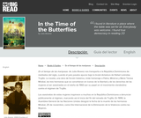 In the Time of the Butterflies by Julia Alvarez - Reader's Guide (Spanish)