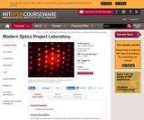 Modern Optics Project Laboratory, Fall 2005
