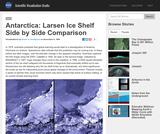 Antarctica: Larsen Ice Shelf Side by Side Comparison