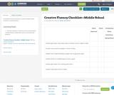 Creative Fluency Checklist—Middle School