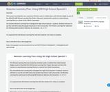 Remoter Learning Plan: Using SER High School Spanish 1