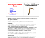 A Carpenter Draws a Circle
