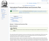 Module 1: Political and Economic Risk