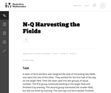 Harvesting the Fields