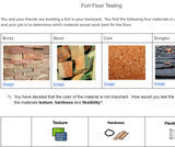 2-PS1-1 Assessment: Fort Floor Testing